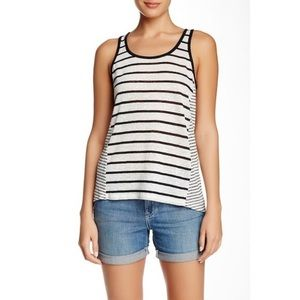 VINCE. Mixed Stripe Tank Top in Linen